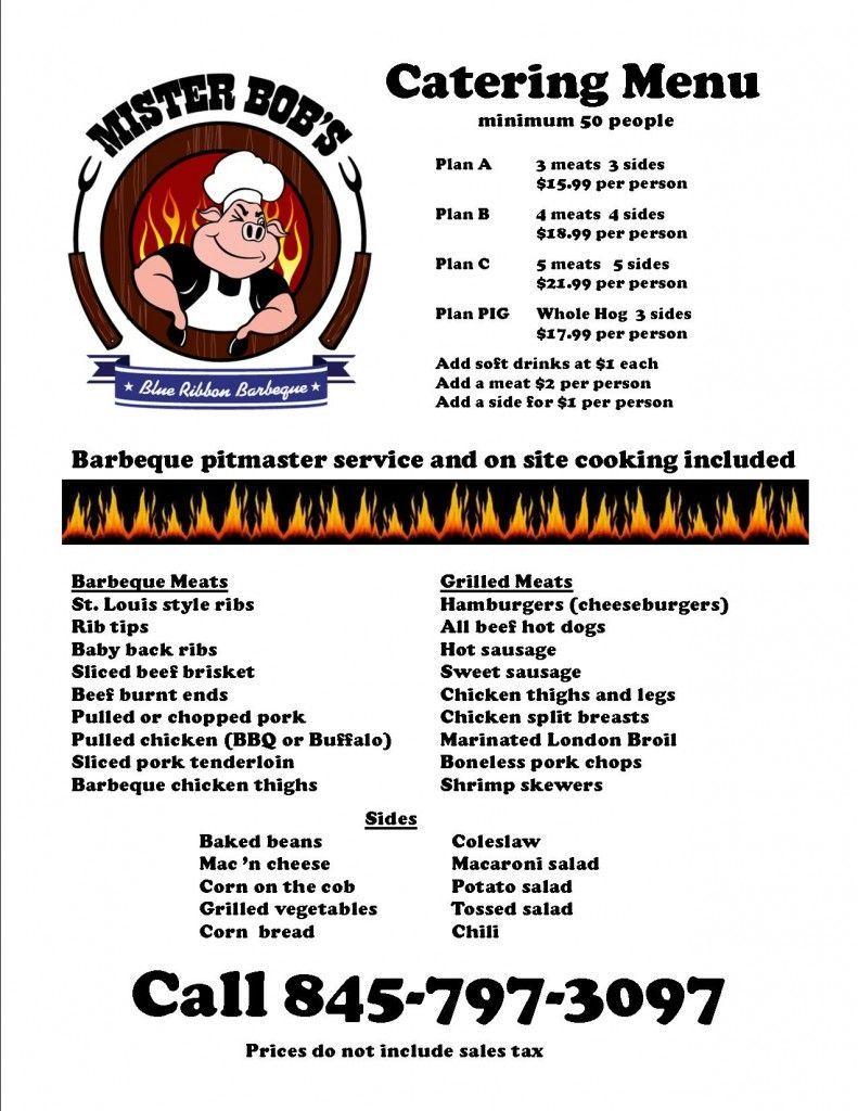 Bbq menu idea bbqmenuideas food truck menu bbq