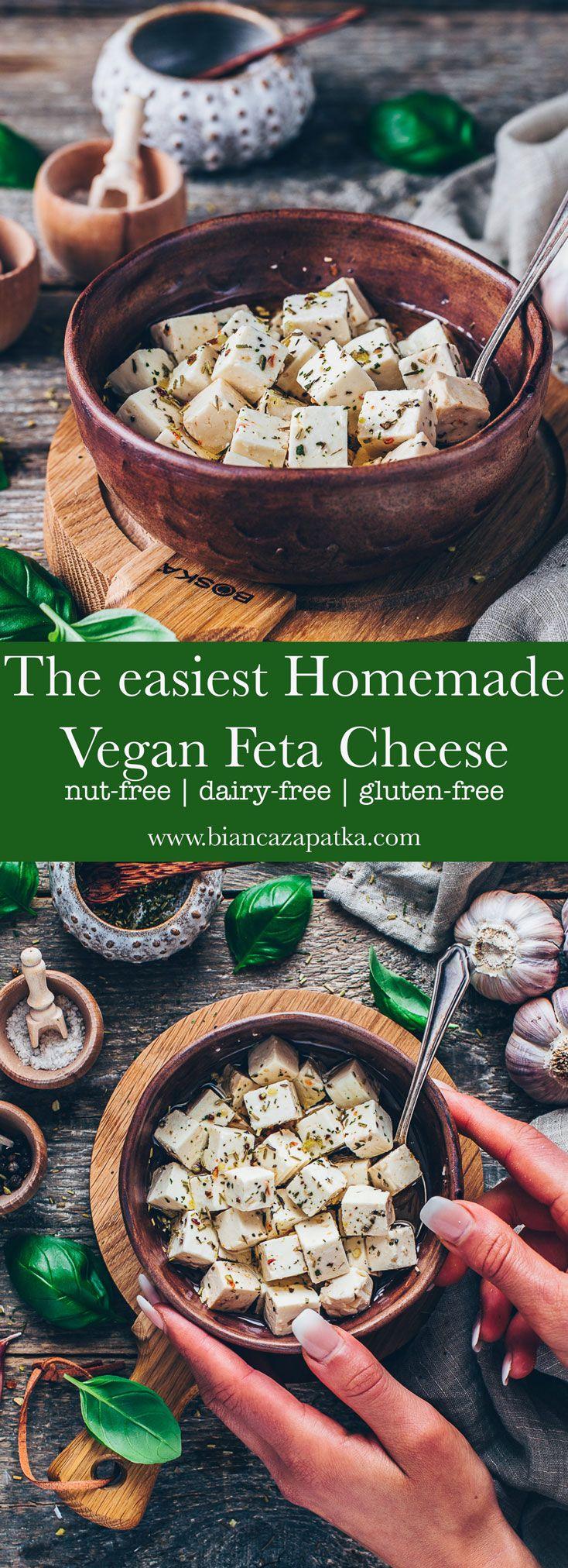 Vegan Feta Cheese Recipe   Easy, Dairy-free - Bianca Zapatka   Recipes