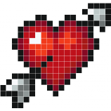 Cupid At Work Pixel Dessin Quadrillé Pixel Art