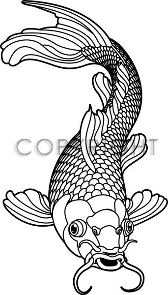 KOI CARP BLACK AND WHITE FISH | Kreativecke (Bastel-Ideen für die ...