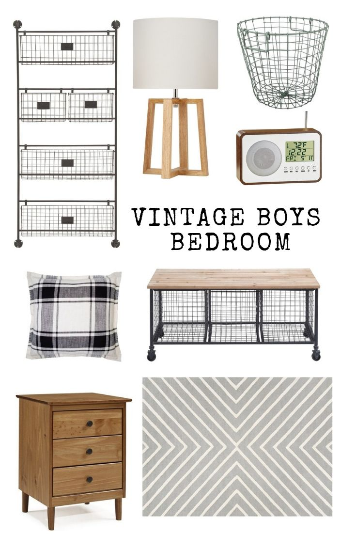 Vintage style boy's bedroom from Walmart images