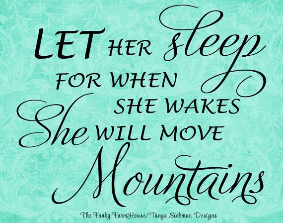 Download SVG DXF & PNG Let her sleep for when she wakes by ...