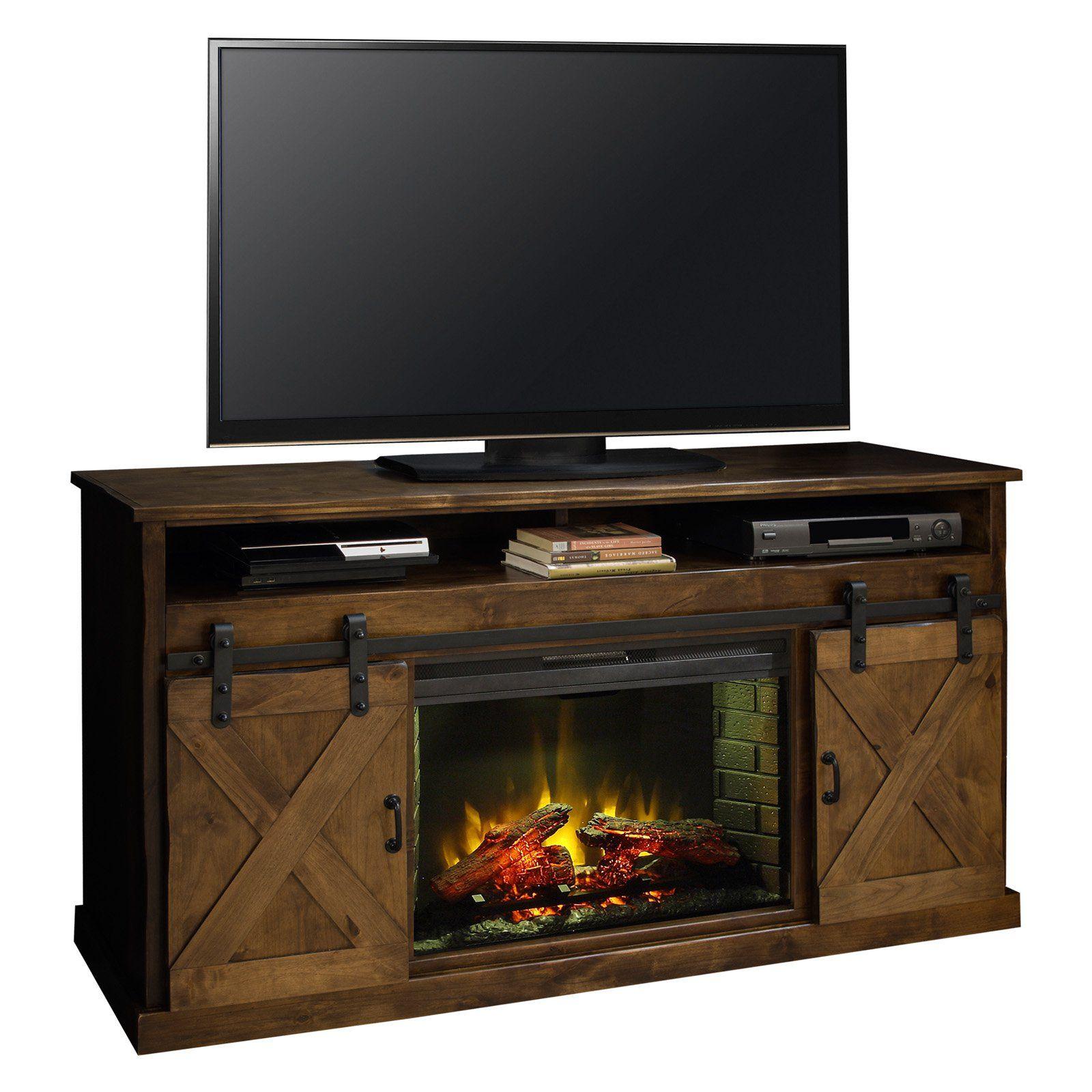 Legends Furniture Farmhouse 66 in. Fireplace Console