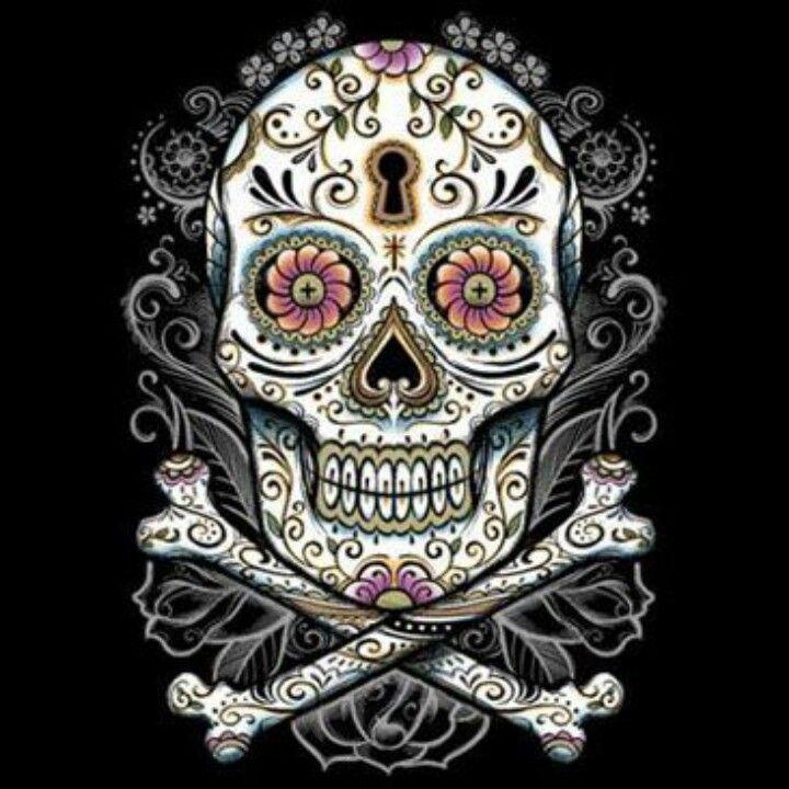 Floral Sugar Skull New Sleep Tee Cover Up Osfa 4x Read