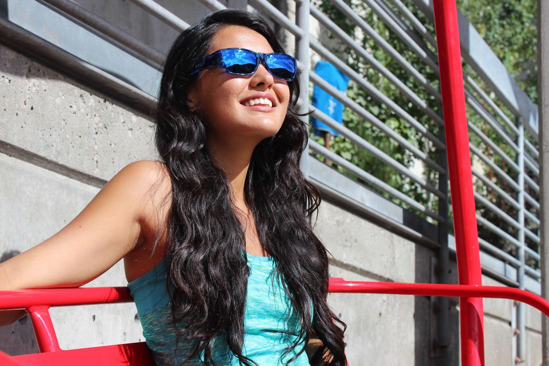90399fcb551 Neera Blue Blast (Blue Mirror) Fitover Sunglasses by Jonathan Paul® are the  perfect