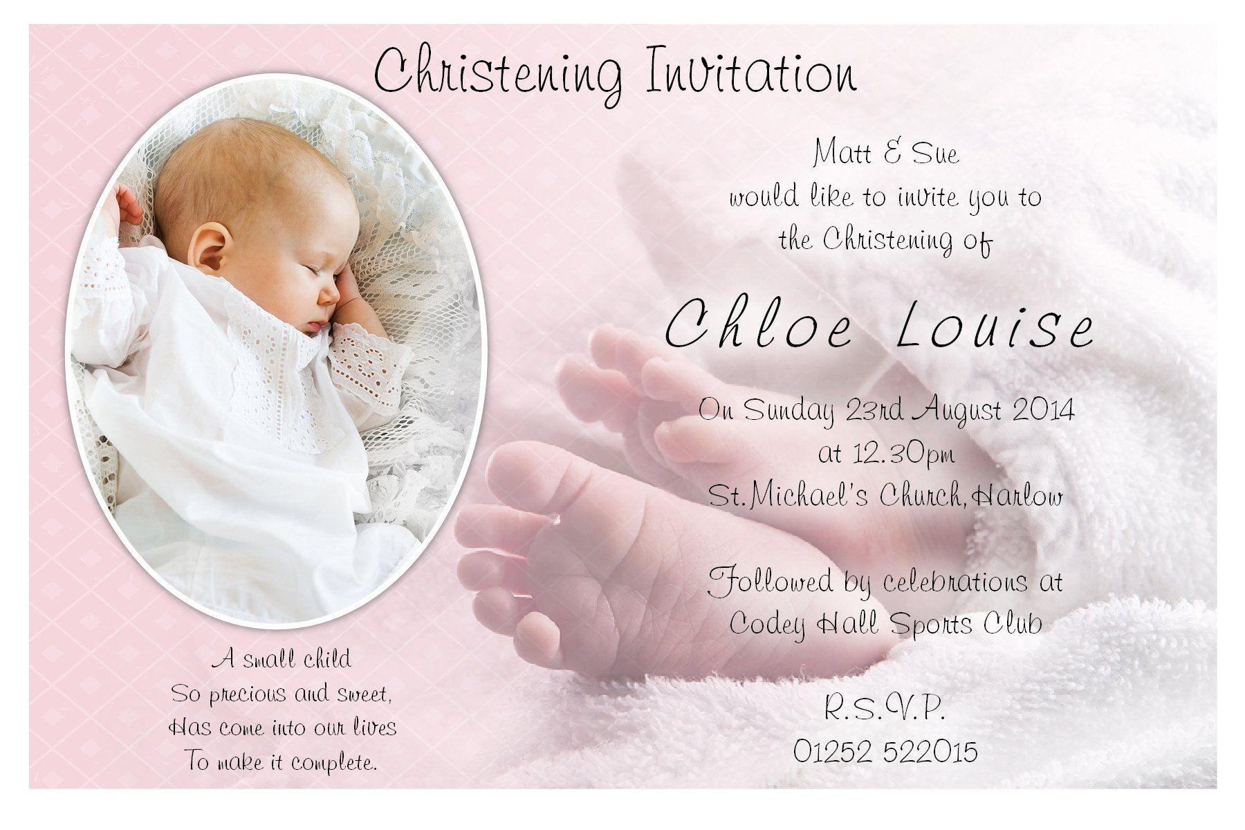 Baptism Invitation Blank Templates For Boy Baptism Invitations