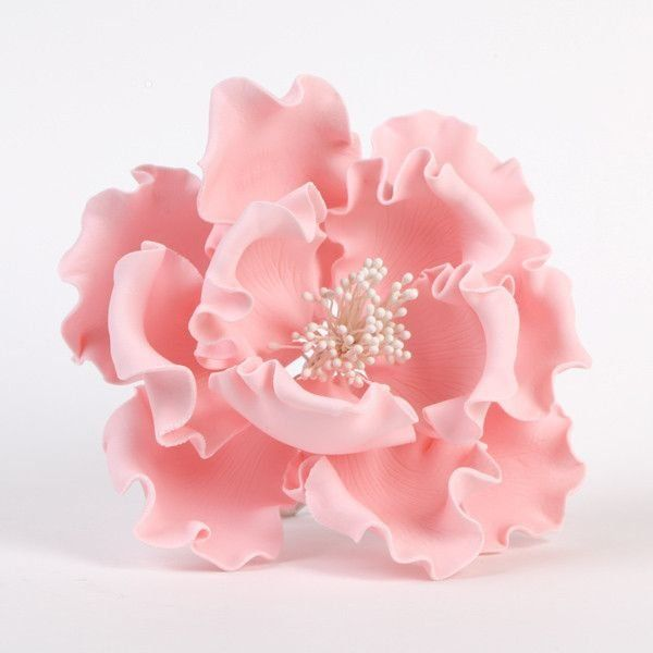 """Fondant Flowers For Wedding Cakes: 6"""" Extra Large Peonies - Pink"""