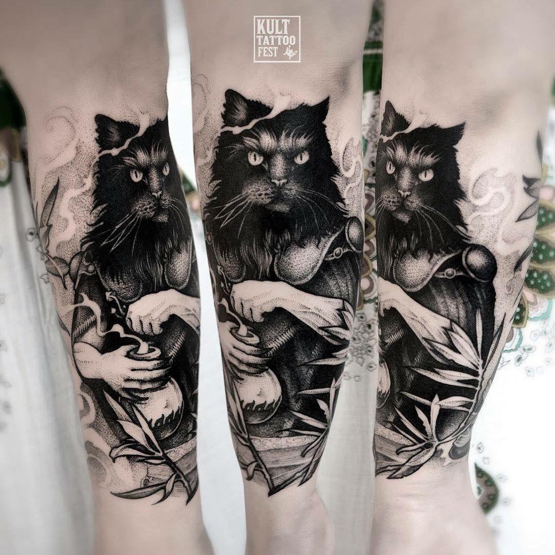 cat tattoo design Black Cat Tattoo Design Ideas with
