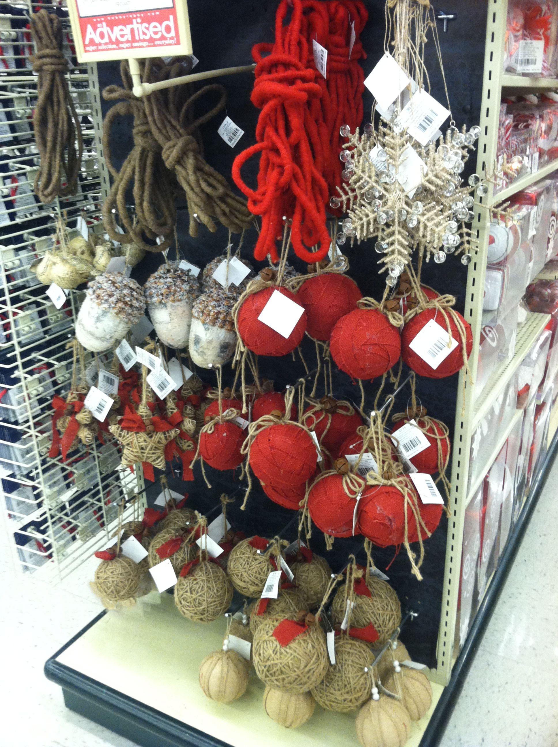Hobby Lobby Burlap Christmas Ornaments Celebrate Christmas