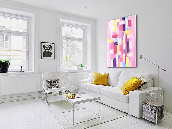 Abstract Canvas Art Painting 30x40 Cm Or 12 X 16 Original Contemporary Modern Wall Art Paintings By Iva Modern Furniture Living Room Living Room Interior Home