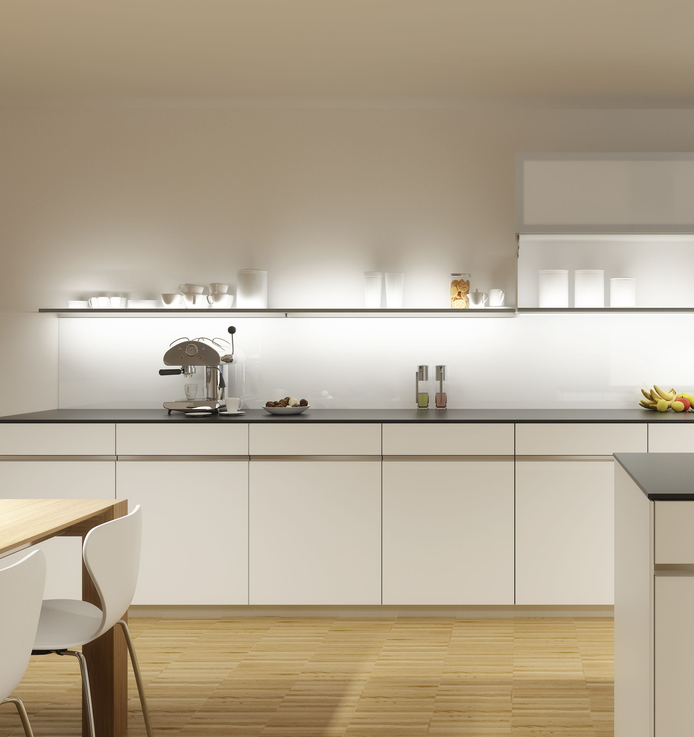 Küchen Ohne Hochschränke Bildergebnis Für Küchen Ohne Oberschränke | Minimalist Kitchen Design, Kitchen Without Wall Cabinets, Kitchen Design