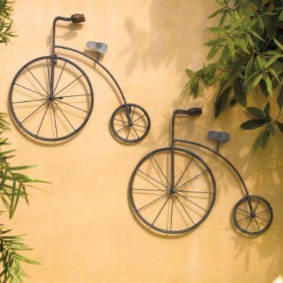 Vintage Metal Bicycle Outdoor Art Bicycle Wall Art Outdoor Metal Wall Art Bicycle Decor