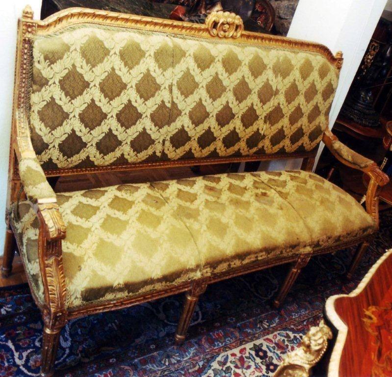 Lovely GOLD SOFA COUCH SITZ LIEGE M BEL Barock Rokoko Louis seize XV XVI Empire antik