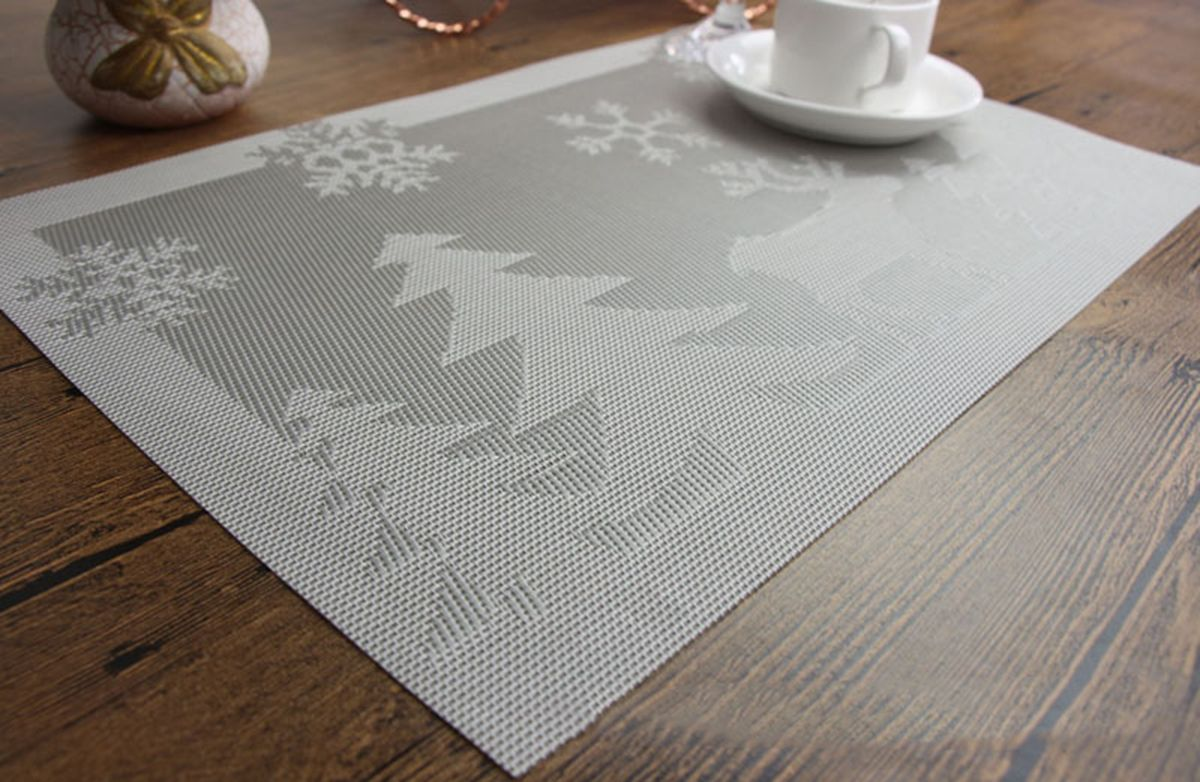 Christmas Placemats Silver 1 Kitchen Christmas Gifts Christmas Placemats Silver Christmas Tree