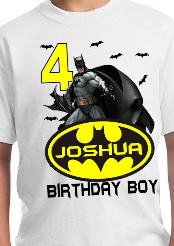 Batman Birthday Shirt Party Stickers Invita