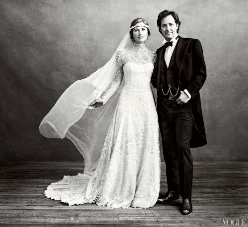 STUNNING! Lauren Bush is such a beautiful and stylish bride. From vogue.com. Photographed by Norman Jean Roy