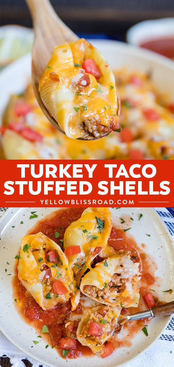 Turkey Taco Stuffed Shells -