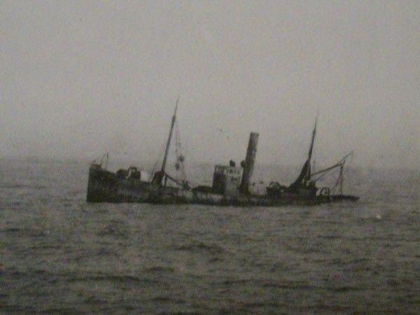 The Portuguese trawler Norte sunk by U 22 (Hashagen) on 31 Aug 1918.