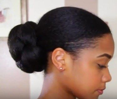 17 Best Ideas About Low Bun Tutorials On Pinterest Natural Hair Bun Hairstyles Natural Hair Styles For Black Women Bridal Hair Buns