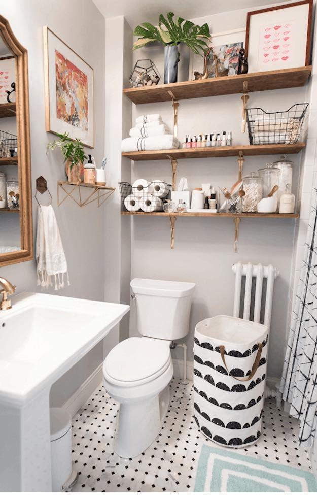 Tgif House Tour Guest Bathroom Small Apartment Bathroom