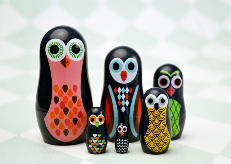 ingela arrhenius mini poup es russes owl omm design mes habits ch ris kidstore r cr atif. Black Bedroom Furniture Sets. Home Design Ideas