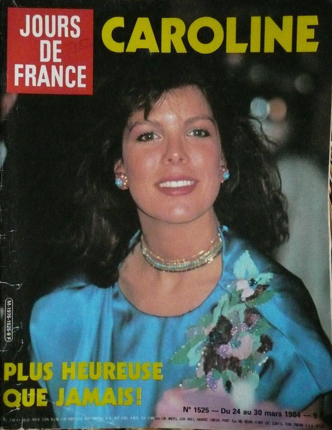 Jours de France - Cover - March 1984 - Princess Caroline