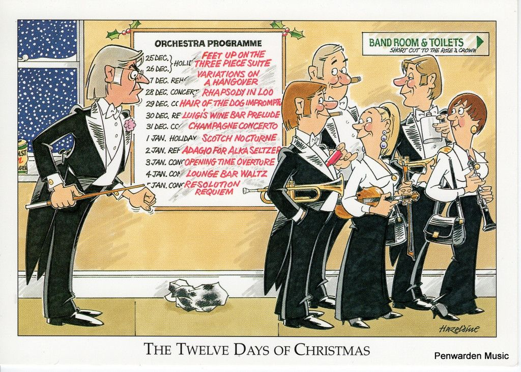 Joan Butler Classics Christmas Card - 12 Days of Christmas