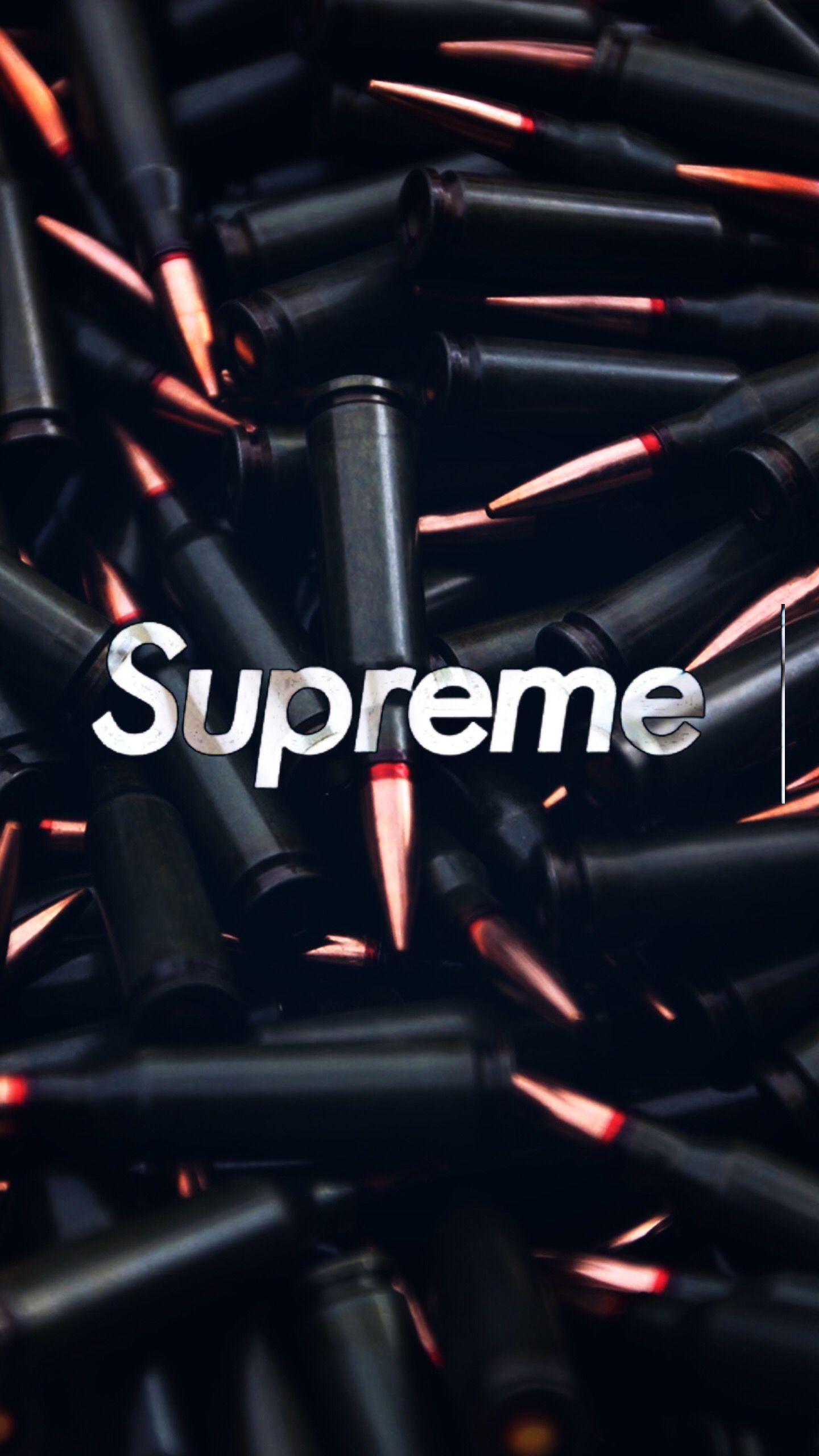 wallpaper iPhone wallpaperiphone supreme sup bullets fuzil