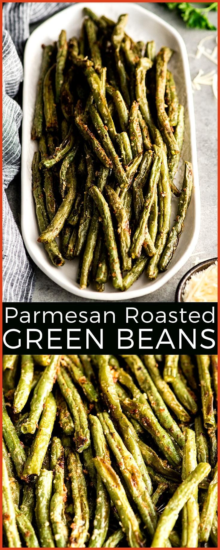 This Roasted Parmesan Green Beans recipe is a healthy  flavorful side dish Mad This Roasted Parmesan Green Beans recipe is a healthy  flavorful side dish Made with only s...