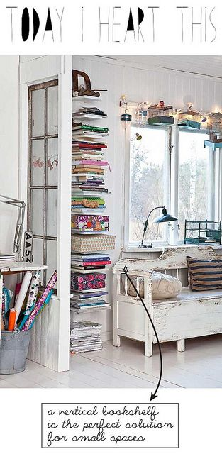 Vertical book storage for small space - Today I heart this #6 by IDA Interior LifeStyle, via Flickr