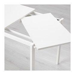 Vangsta Table Extensible Blanc Table à Manger Extensible