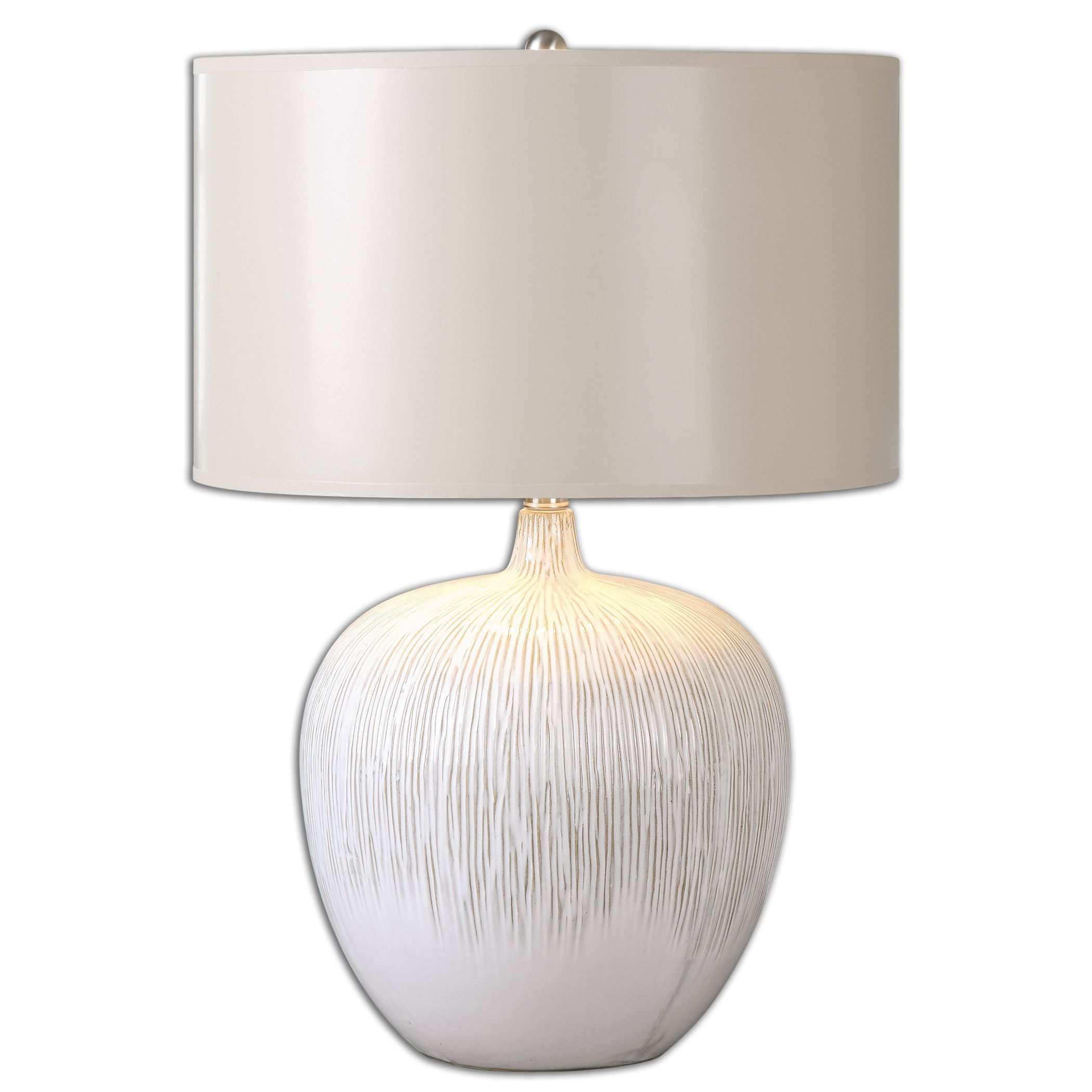 Uttermost georgios light ivory table lamp ceramic ivory table