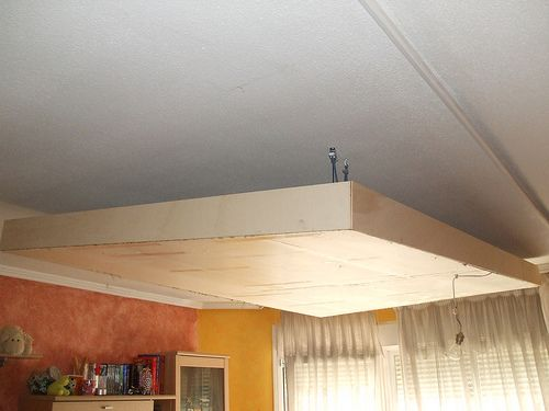 Como hacer una lampara de techo con una caja de madera - Hacer una caja de madera ...
