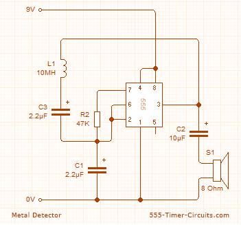 Metal Detector Circuit   Elektronika   Metal detector, Diy