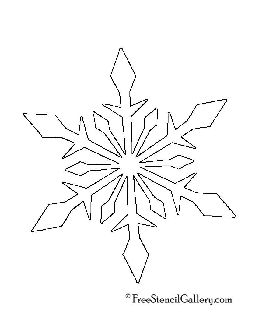 Snowflake Stencil 02 | * Snowflake Silhouettes, Vectors, Clipart ... : snowflake quilting stencil - Adamdwight.com