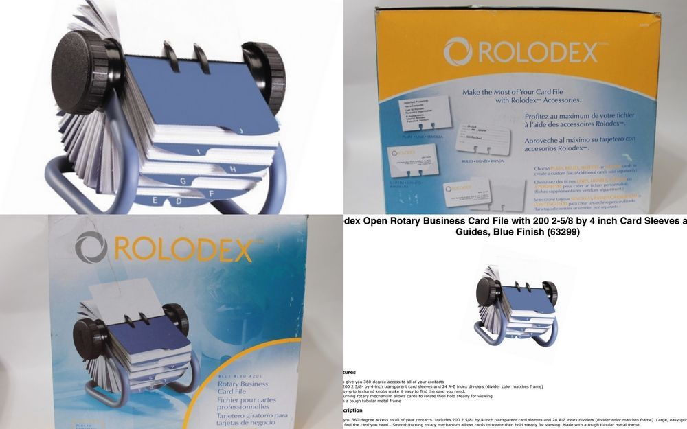 Rolodex 63299 Open Rotary Business Card File #Rolodex | OFFICE ...