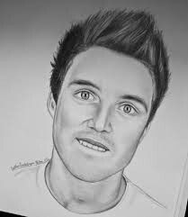 Awesome drawing of Marcus Butler. Whoever drew this has talent, and alot of it.