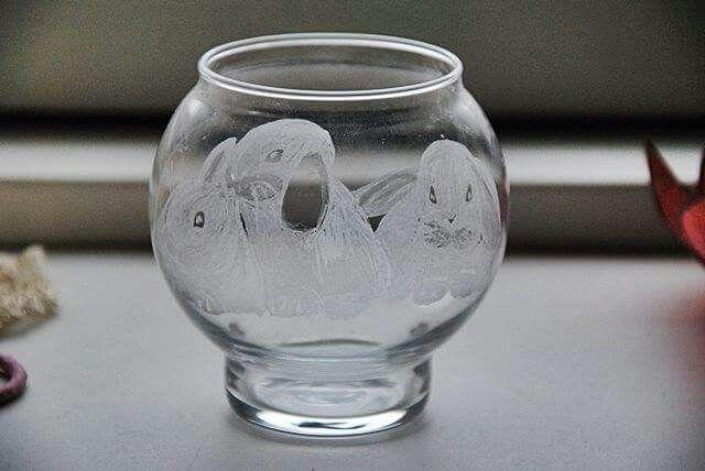 Glas kaniner