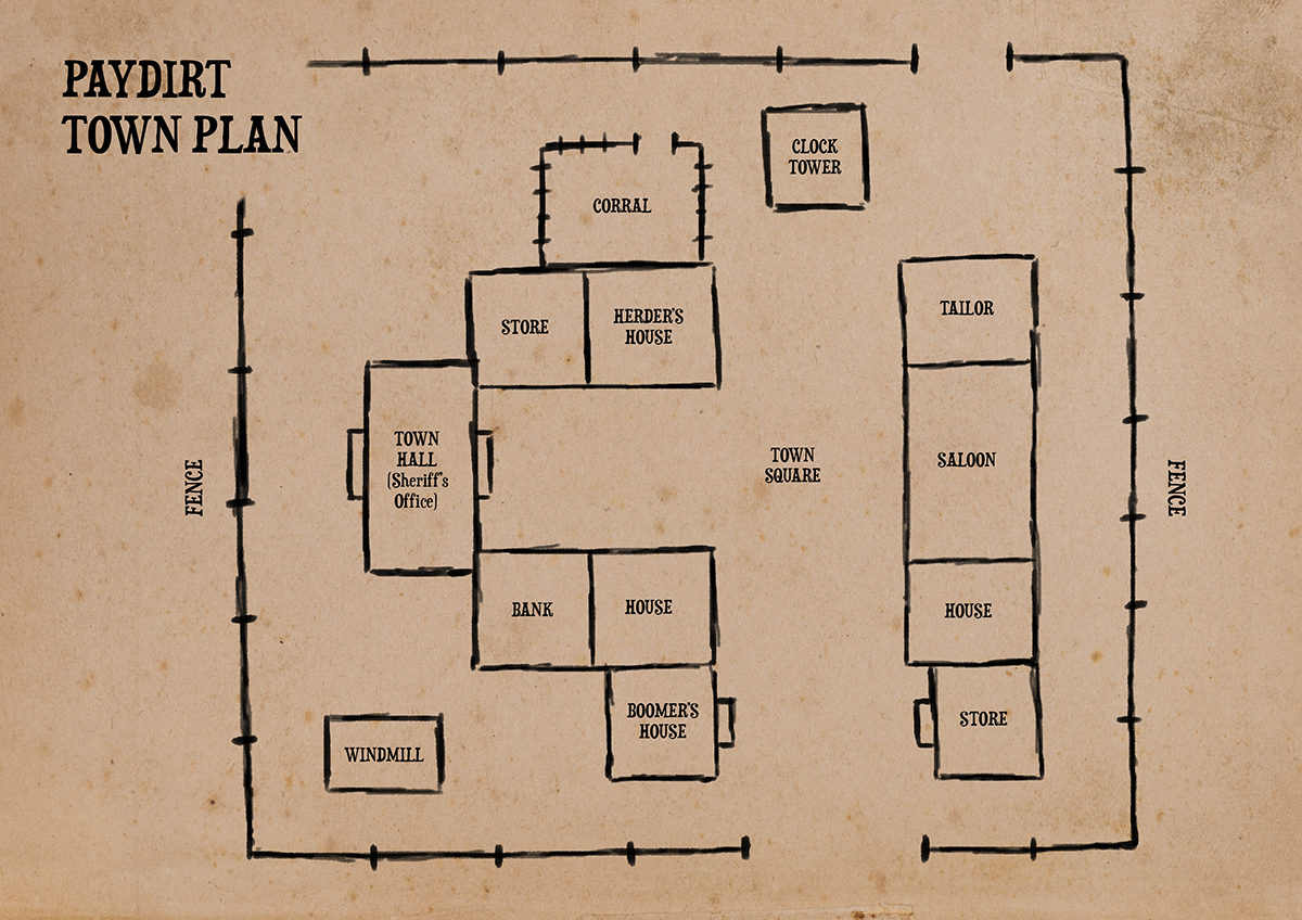 Ftk Town Plan Small Png 1200 848 Old Western Towns How To Plan Town House Floor Plan