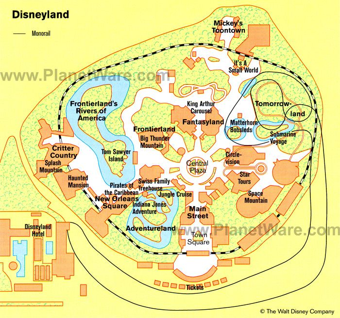 Map of disneyland planetware disneyland senior trip pinterest 11 top rated tourist attractions in california publicscrutiny Images