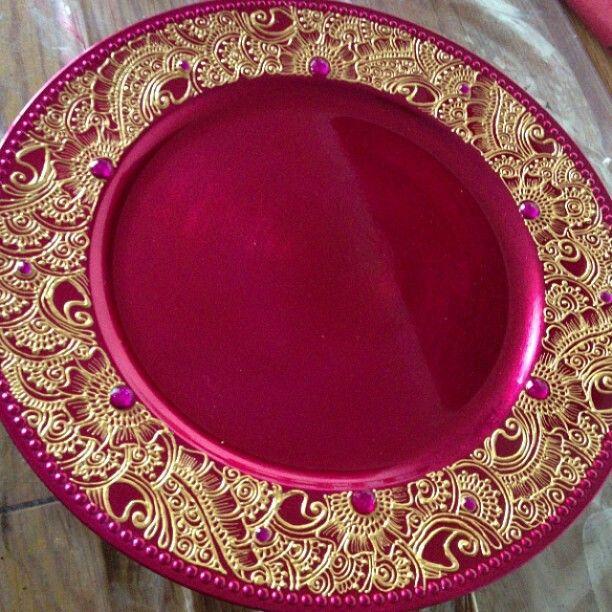Mehndi Flower Plates : Mehndi plate by farzana anna totten halliwell boyd