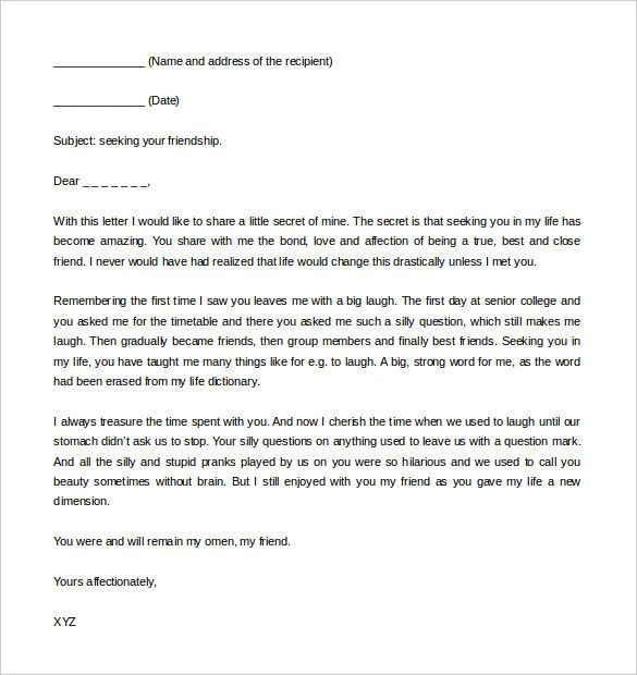 letter writing format download