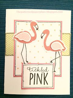 The Patterned Paper Place: Tickled Pink Flamingos #CTMH