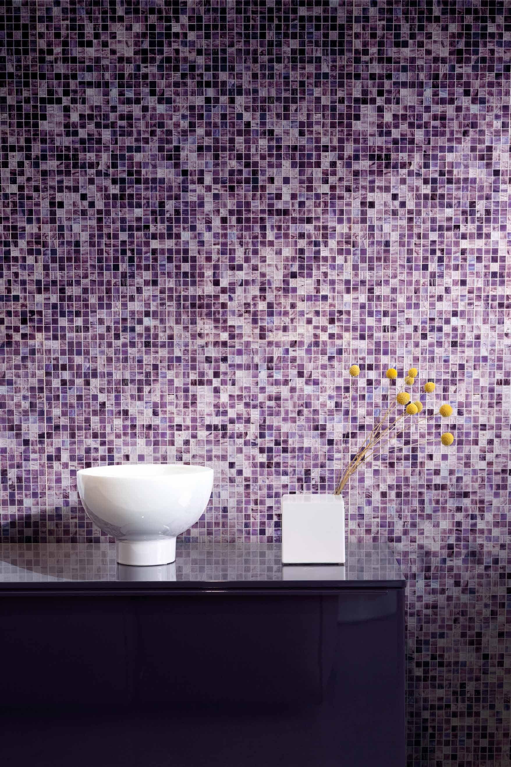 Piastrelle Bagno Mosaico Viola bisazza opera gloss 1,5x1,5 cm op 15.08 gloss | modernes