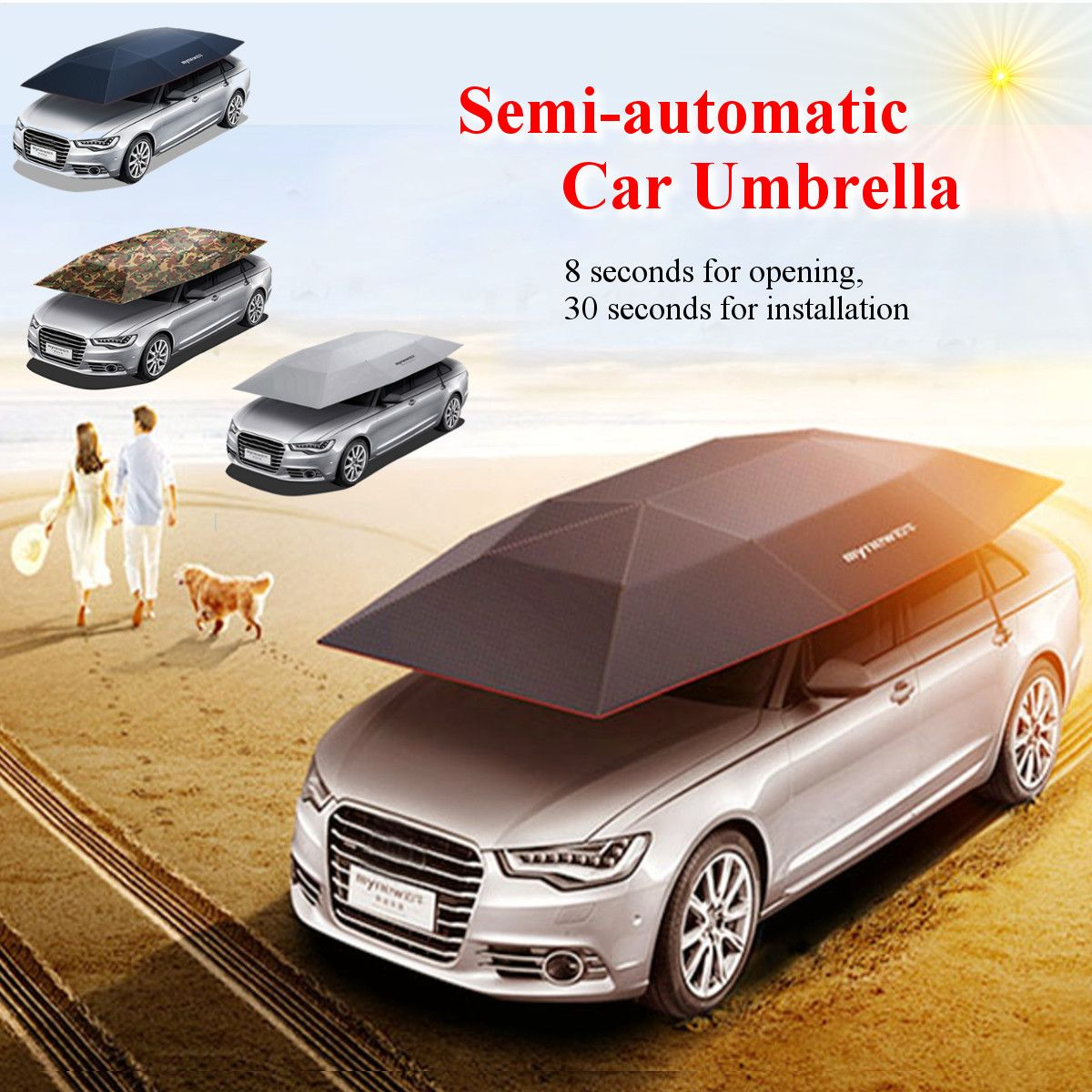 New Portable Semi Automatic Car Umbrella Carace