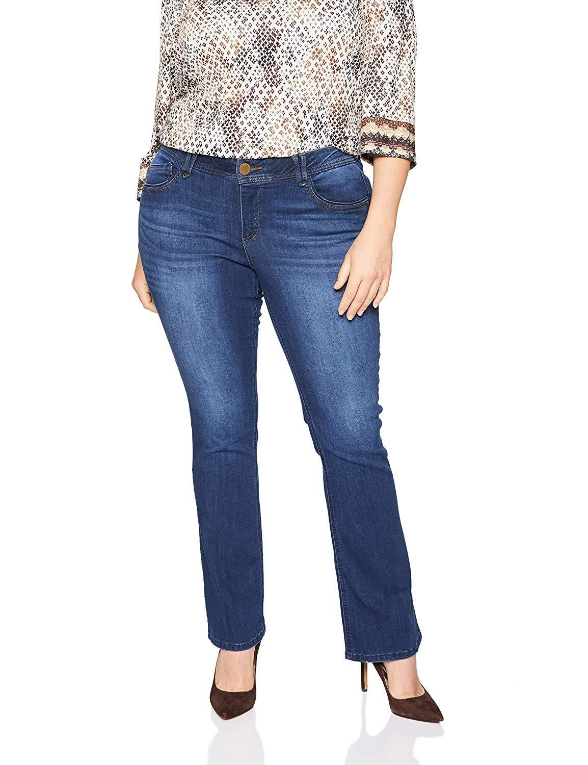0e8b2bb10a8ff Democracy Womens Plus Size Ab Solution Itty Bitty Boot Jean at Amazon  Womens Clothing store