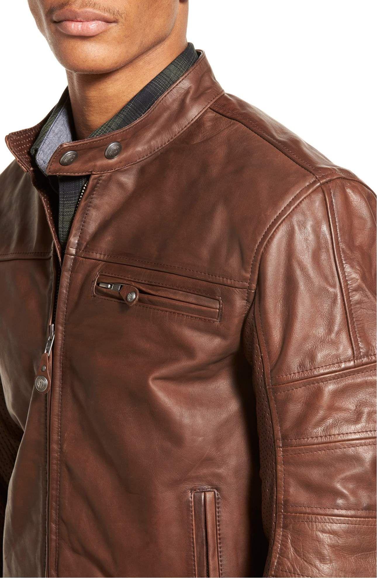 Roland Sands Design Ronin Cafe Racer Leather Jacket Nordstrom Leather Jacket Cafe Racer Leather Jacket Leather Jacket Men [ 1977 x 1290 Pixel ]