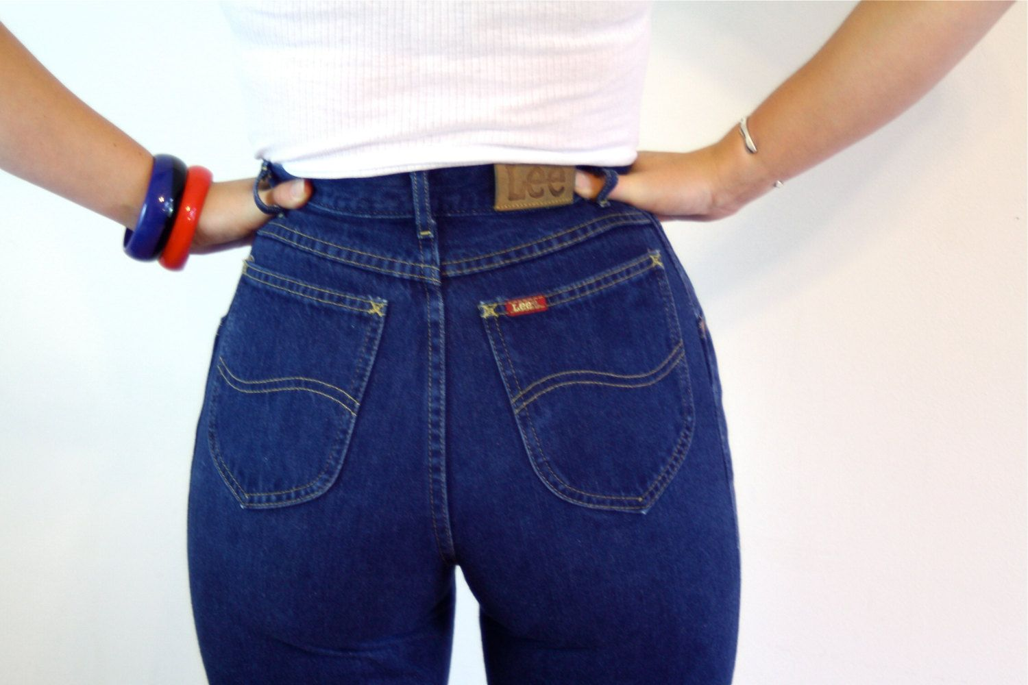 d48f2c8788d07 Vintage 80s LEE Jeans High Waisted Pleated Mom Jeans Super High Waist Tight  Fitted 1980s Dark Denim Blue Jean Pants Lee Riders Size 25 by ...