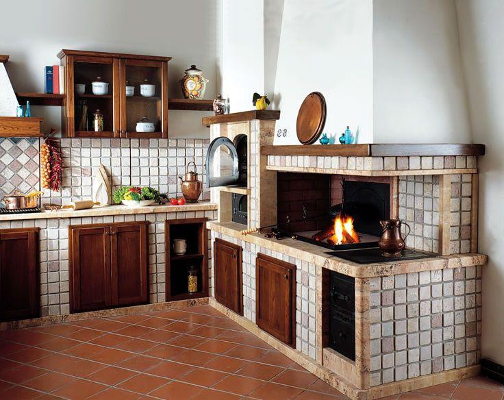 Camini In Cucina (con imágenes) | Cocinas rústicas