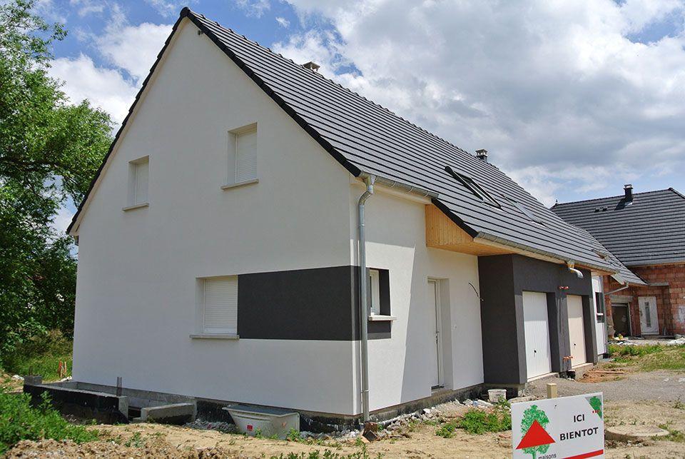 construction de maisons jumelles toit en pente en alsace nos r alisations pinterest. Black Bedroom Furniture Sets. Home Design Ideas